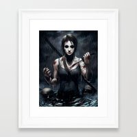 tomb raider Framed Art Prints featuring Tomb Raider by Max Grecke