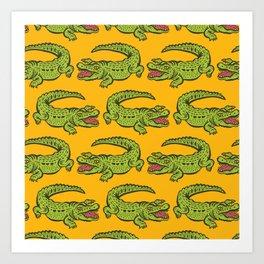 Giant crocodile Kunstdrucke