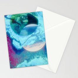 Galaxies Apart Stationery Cards