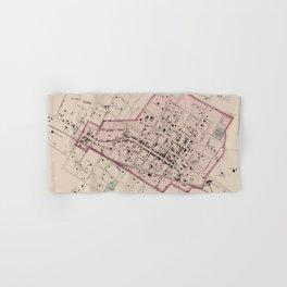 Vintage Map of Charlottesville VA (1877) Hand & Bath Towel