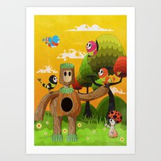 Treeborn Art Print
