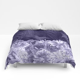 Dark Shades Of Lavender Comforters
