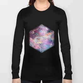 Watercolor and nebula sacred geometry  Long Sleeve T-shirt