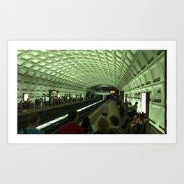 DC train Art Print