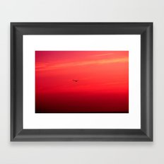 Crimson Sky Framed Art Print