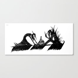 Dinner with Demon Canvas Print