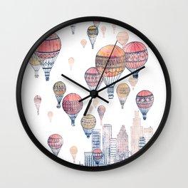 Voyages Over Santa Monica ~ Refresh Wall Clock