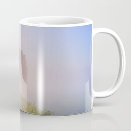 Foggy sunrise in typical polder landscape in The Netherlands Coffee Mug