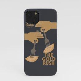The gold rush, movie illustration, Charlie Chaplin film, vintage poster, Charlot, b&w cinema iPhone Case