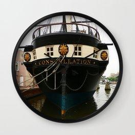 USS Constellation Detail Wall Clock