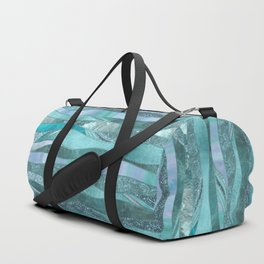 Precious Aqua And Turquoise Glamour Duffle Bag