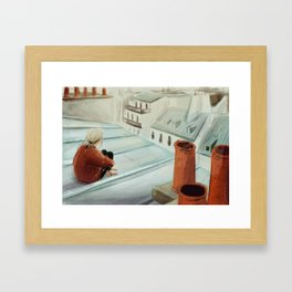 From the roof Framed Art Print