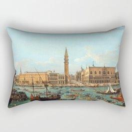 Antonio Francesco Lodovico Joli The Greeting of Nuncio Stoppani Rectangular Pillow