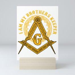 Brothers Keeper Illuminati Symbol Masonic Conspiracy Gift Mini Art Print