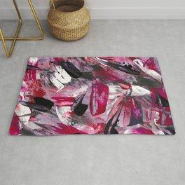 Pink Modern Abstract Wall Art Rug