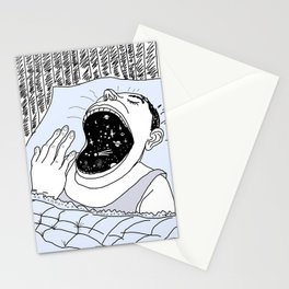 man and the cosmos Stationery Cards