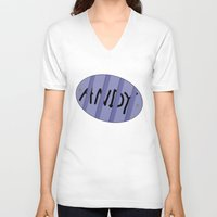 buzz lightyear V-neck T-shirts featuring Buzz Andy by bitobots