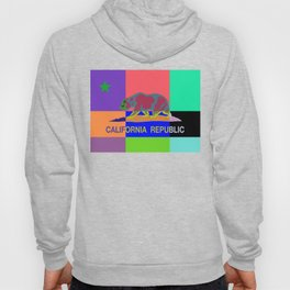 California Republic Abstract Colorful Hoody