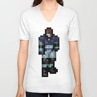 metal gear V-neck T-shirts featuring Metal Gear by Elegant As Phoque