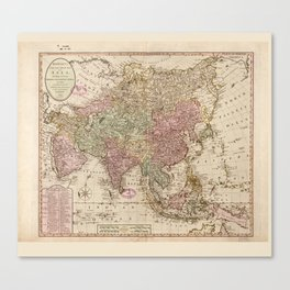 Bowles's Map of Asia (1791) Canvas Print