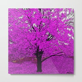 TREES PINK ABSTRACT Metal Print