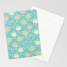 Watering Cans On Teal Stationery Cards