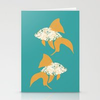goldfish Stationery Cards featuring Goldfish by Julia Kisselmann