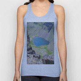 road trip, high mountain lake, fish Unisex Tank Top