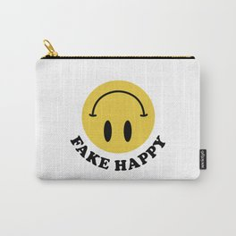 Fake Happy Smile Carry-All Pouch