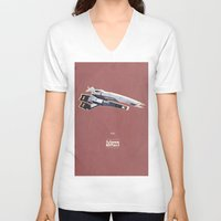 mass effect V-neck T-shirts featuring Mass Effect by Simon Alenius