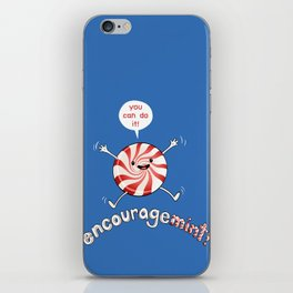 ENCOURAGEMINT (Red Peppermint) iPhone Skin