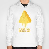 sayings Hoodies featuring It ain't easy being cheesy by Picomodi
