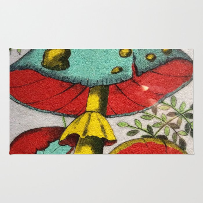 Snail and mushrooms Rug