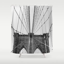 BROOKLYN BRIDGE IN BLACK AND WHITE Shower Curtain