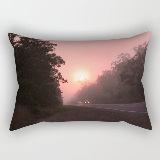 A perfect spot for a break in the journey Rectangular Pillow