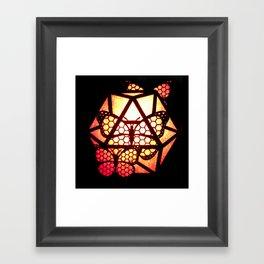 Burning Butterfly Lantern  Framed Art Print