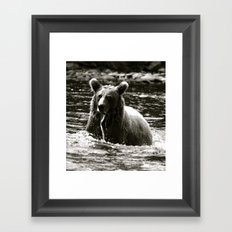 Fishing in the Russian River Framed Art Print