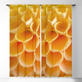 Orange Bloom Blackout Curtain