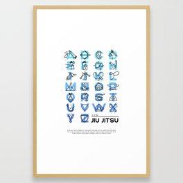J is for Jiu Jitsu Framed Art Print