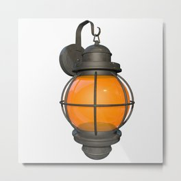 Outdoor Lamp Metal Print