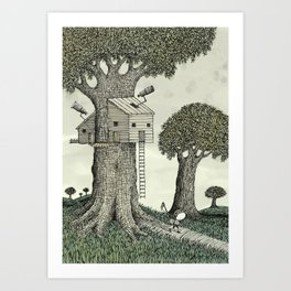 'Treehouse' Art Print