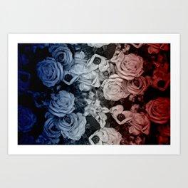 Sea to Shining Sea of Florals Art Print