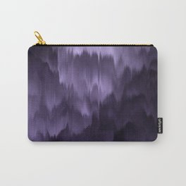 Purple and black. Abstract. Carry-All Pouch