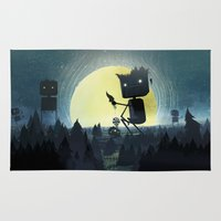 giants Area & Throw Rugs featuring Hill Giants by GlennPorterArt