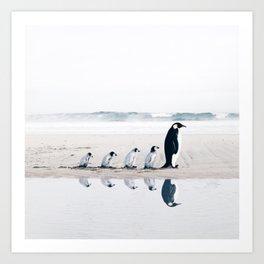 Penguin Family Kunstdrucke