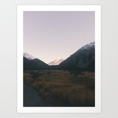 The road to mount Cook Art Print