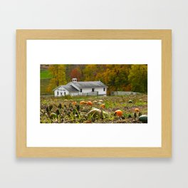 Pumpkin Patch and Amish School 2 Framed Art Print