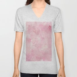Pink rose fuscia batic look Unisex V-Neck