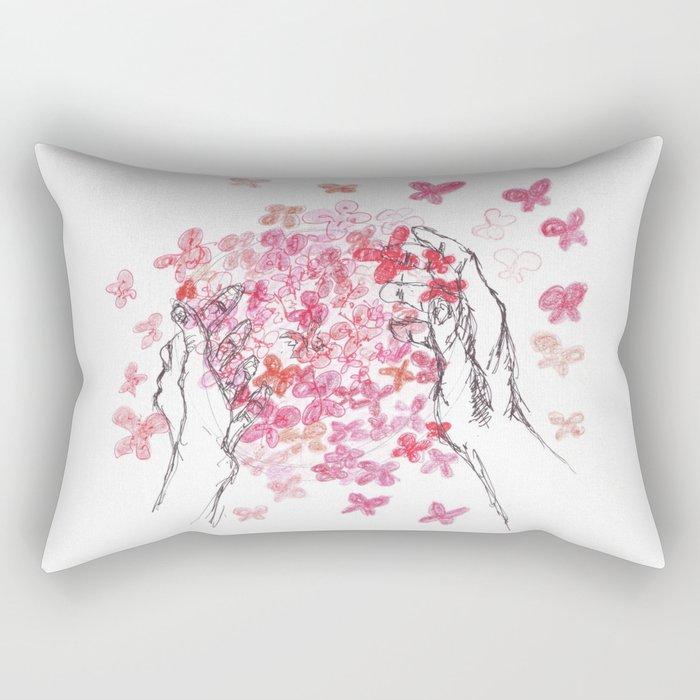 Butterfly Ball Rectangular Pillow