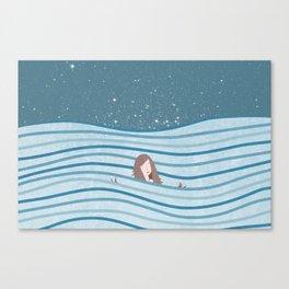 Night Swimming Canvas Print